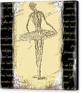 Antique Ballet Canvas Print