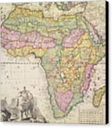 Antique Map Of Africa Canvas Print by Pieter Schenk