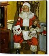 Antique Santa Canvas Print by Doug Strickland