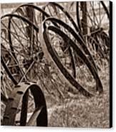Antique Wagon Wheels II Canvas Print by Tom Mc Nemar