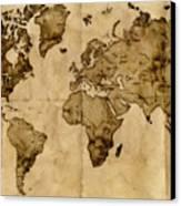 Antique World Map Canvas Print
