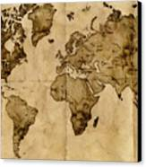 Antique World Map Canvas Print by Radu Aldea