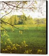 Antiqued Grunge Landscape Canvas Print by Sandra Cunningham