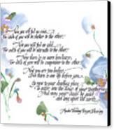 Apache Wedding Prayer Blessing Canvas Print by Darlene Flood