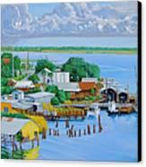 Apalachicola Waterfront Canvas Print
