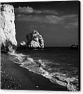 Aphrodites Rock Petra Tou Romiou Republic Of Cyprus Canvas Print by Joe Fox