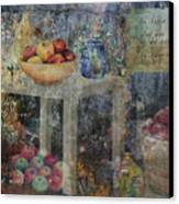 Apple Montage Canvas Print by Arline Wagner