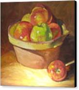 Apples In A French Bowl. Canvas Print