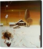 Apples On The Snow Canvas Print