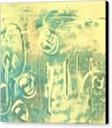 Aqua Monotype Canvas Print