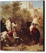 Arab Horsemen Canvas Print by Eugene Fromentin