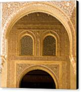 Arabesque Ornamental Designs At The Casa Real In The Nasrid Palaces At The Alhambra Canvas Print