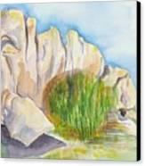 Arboretum Rocks Canvas Print