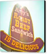 Arby's Canvas Print by David Waldo
