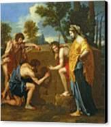 Arcadian Shepherds Canvas Print by Nicolas Poussin