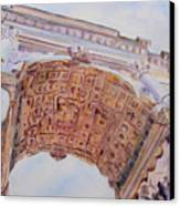 Arch Of Titus One Canvas Print by Jenny Armitage