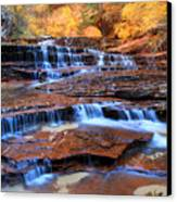 Archangel Falls In Zion National Park Canvas Print by Pierre Leclerc Photography