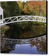 Arched Bridge-somesville Maine Canvas Print by Thomas Schoeller