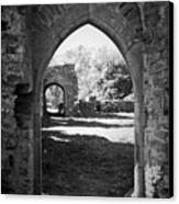 Arched Door At Ballybeg Priory In Buttevant Ireland Canvas Print