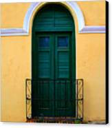 Arched Doorway Canvas Print by Perry Webster
