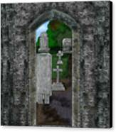Arches And Cross In Ireland Canvas Print