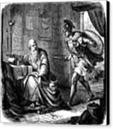 Archimedes (c287-212 B.c.) Canvas Print by Granger