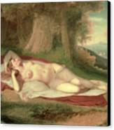 Ariadne Asleep On The Island Of Naxos Canvas Print by John Vanderlyn