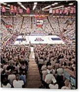 Arizona Wildcats White Out At Mckale Center Canvas Print