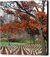 Arlington Cemetery In Fall Canvas Print by Carolyn Marshall
