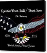 Armed Forces Desert Storm Canvas Print
