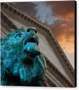 Art And Lions Canvas Print
