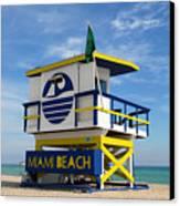 Art Deco Lifeguard Stand Canvas Print