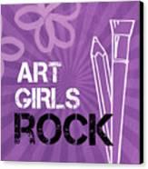 Art Girls Rock Canvas Print by Linda Woods