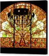Artful Stained Glass Window Union Station Hotel Nashville Canvas Print by Susanne Van Hulst