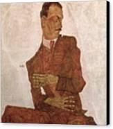 Arthur Roessler Canvas Print by Egon Schiele