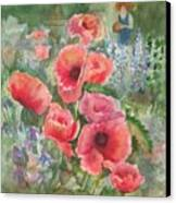 Artist In The Garden Canvas Print by B Rossitto