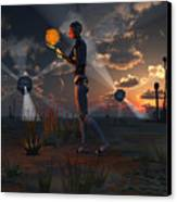 Artists Concept Of A Quest To Find New Canvas Print