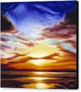 As The Sun Sets Canvas Print