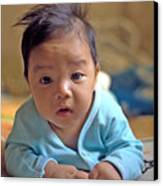 Asian Baby Canvas Print by Atul Daimari
