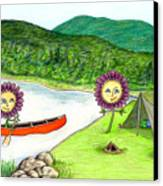Astors Camping Canvas Print by Kathleen Walker