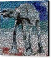 At-at Bottle Cap Mosaic Canvas Print by Paul Van Scott