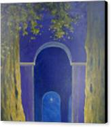 At Night In The Temple Canvas Print