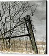 At The End...fence Post Canvas Print by Stephanie Calhoun