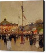 At The Fair  Canvas Print by Luigi Loir