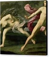 Atalanta And Hippomenes Canvas Print by Guido Reni