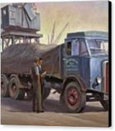 Atkinson At The Docks Canvas Print