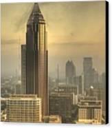 Atlanta Skyline At Dusk Canvas Print by Robert Ponzoni