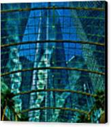 Atrium Gm Building Detroit Canvas Print