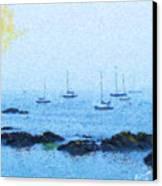Attente Pour La Brise Canvas Print