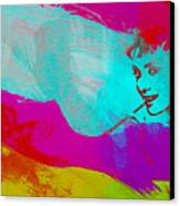 Audrey Hepburn Canvas Print by Naxart Studio
